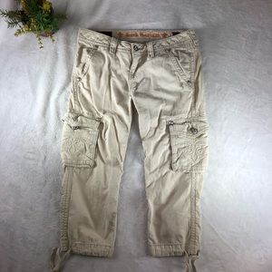 Rock Revival Buckle Womens Size 26 Cargo Capris